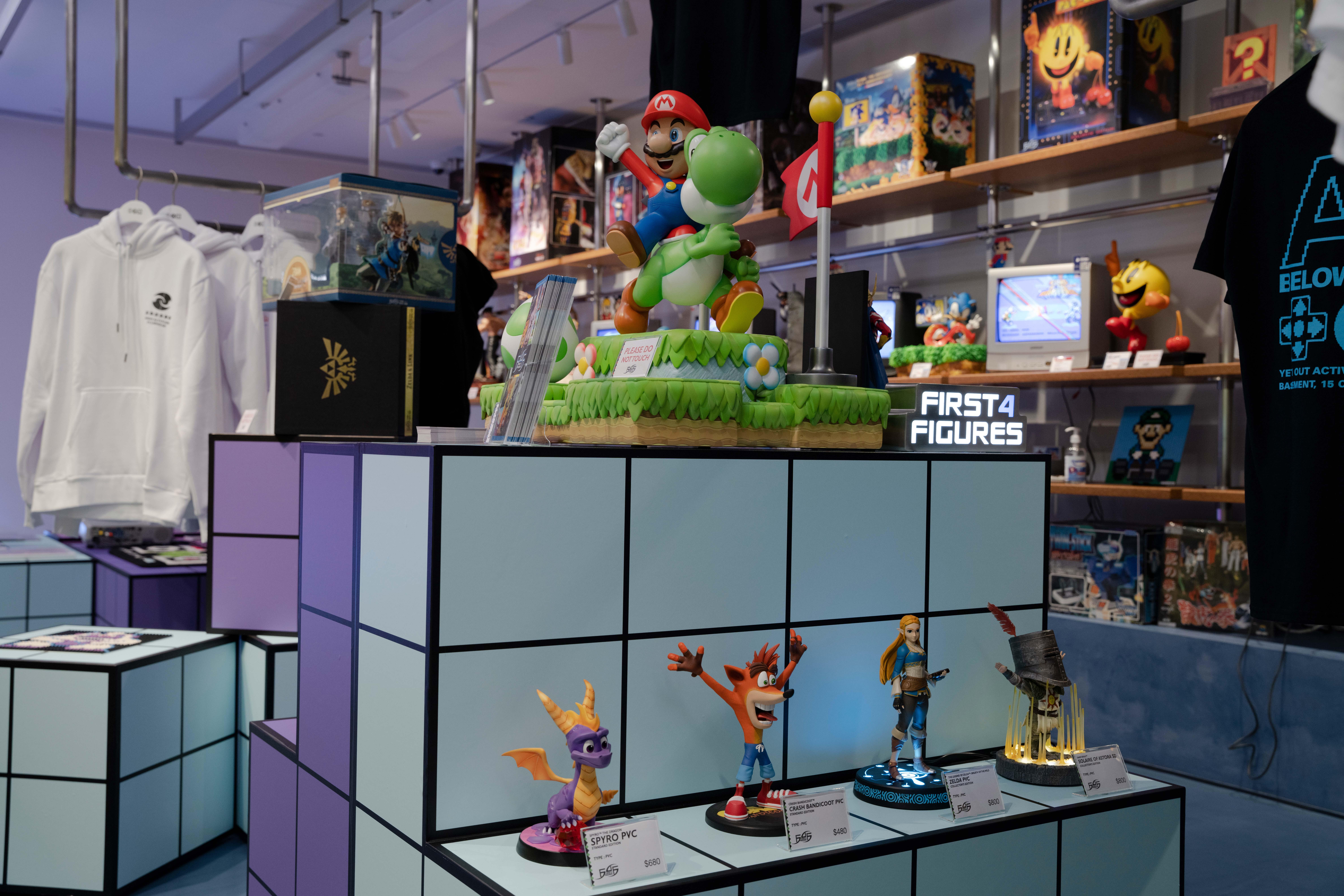 Mario and Yoshi Statue at AV BELOWGROUND Arcade