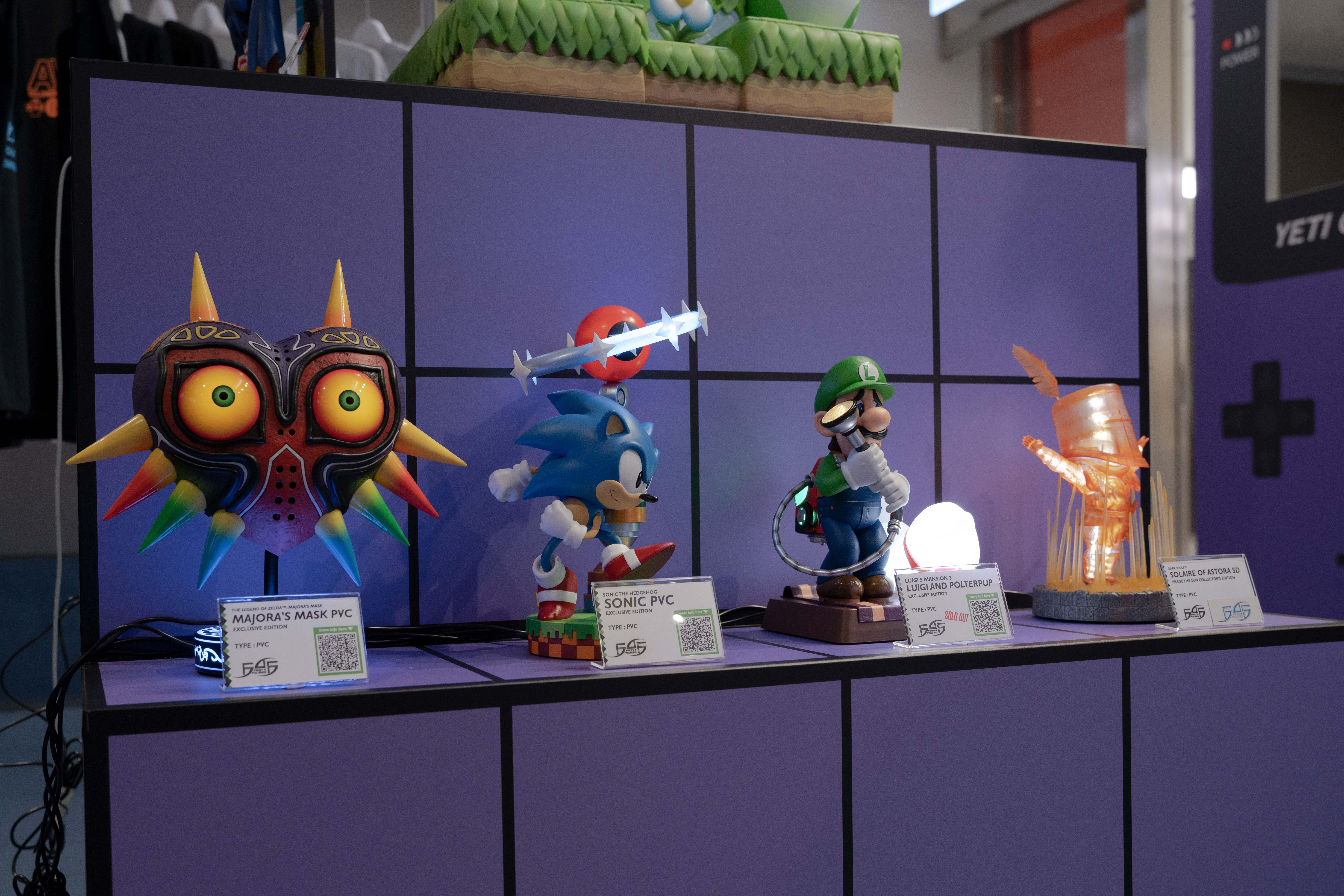First 4 Figures PVC Statues at AV BELOWGROUND Arcade
