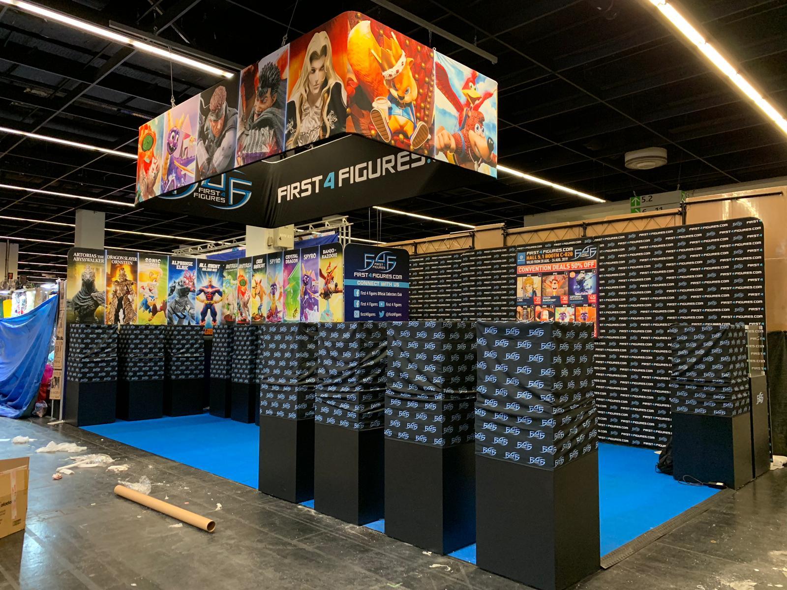 First 4 Figures booth @ Gamescom 2019
