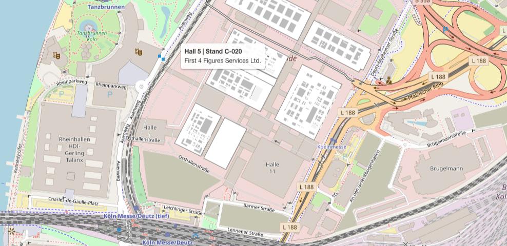 Gamescom 2019 Area Map