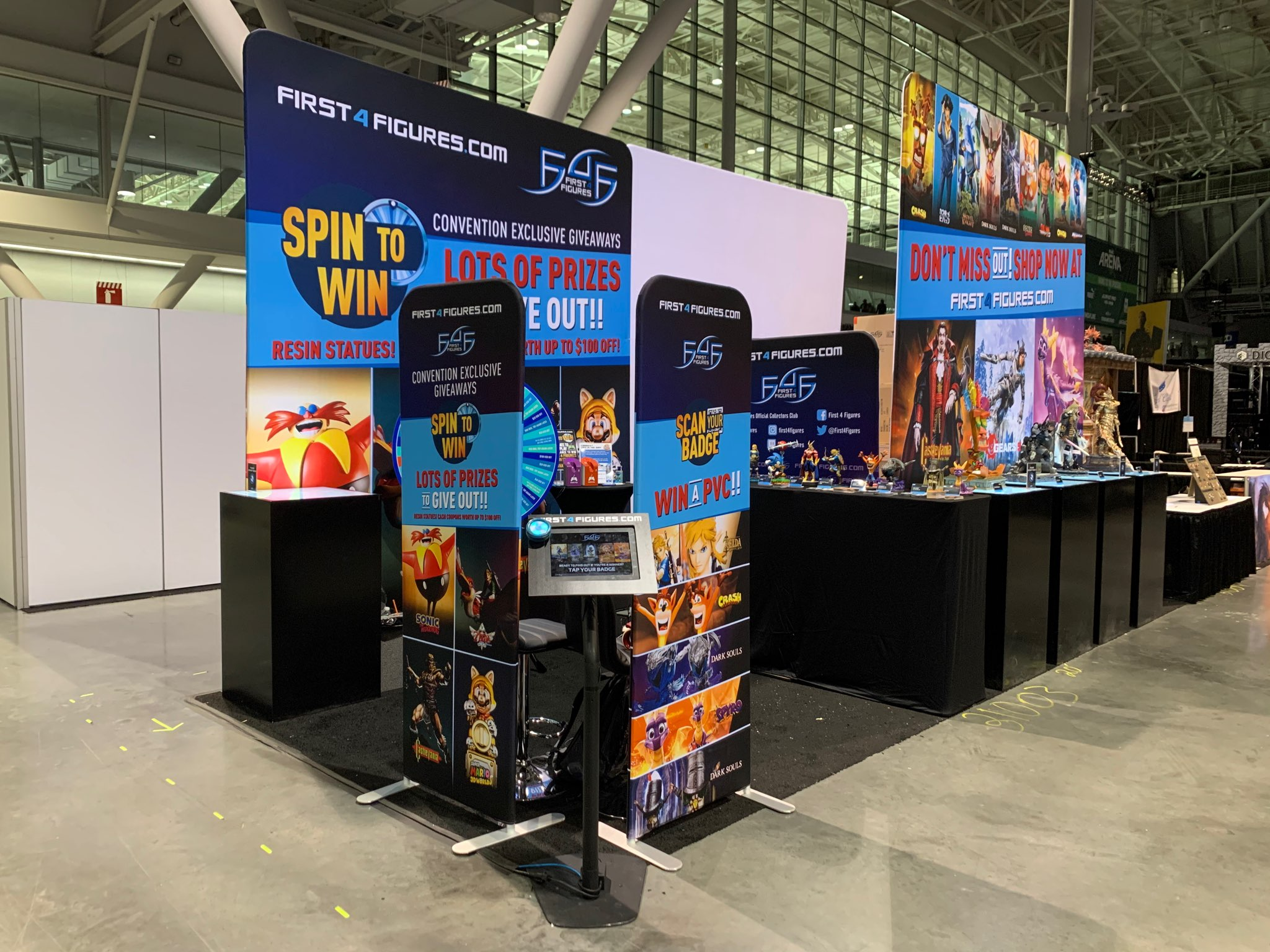 First 4 Figures booth setup @ PAX East 2020