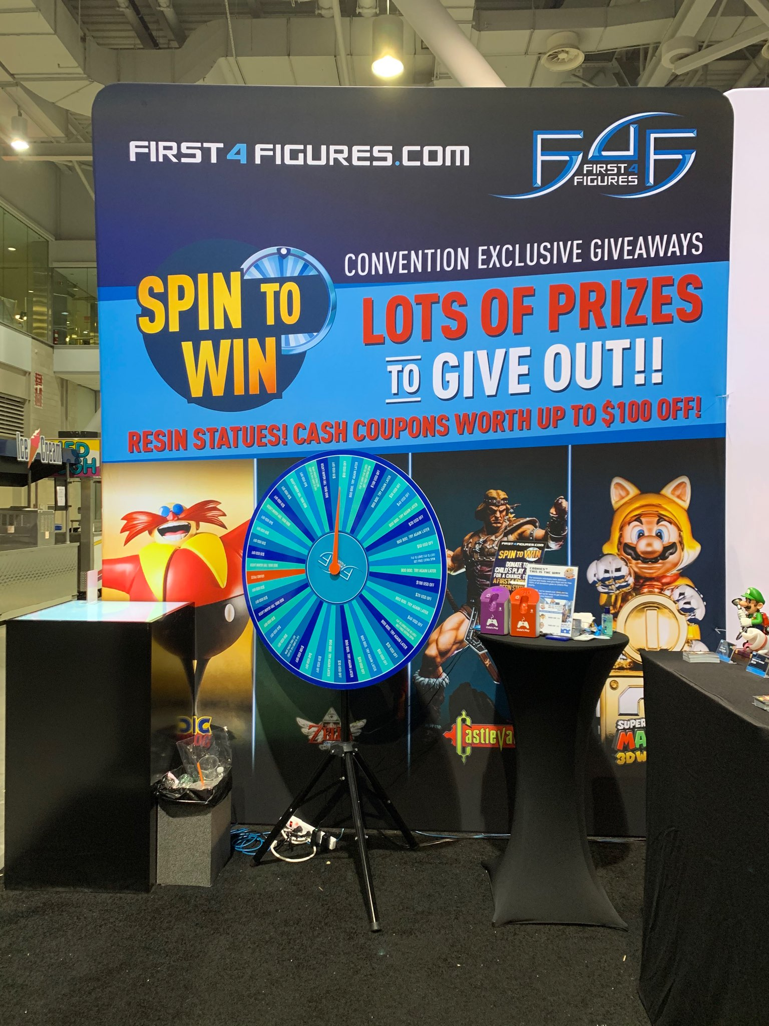 Spin to Win @ F4F PAX East 2020 Booth