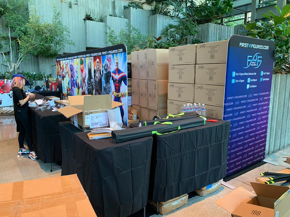 First 4 Figures booth setup @ PAX West 2019