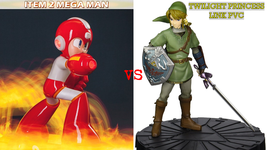 Item 2 Megaman vs. Twilight Princess Link PVC