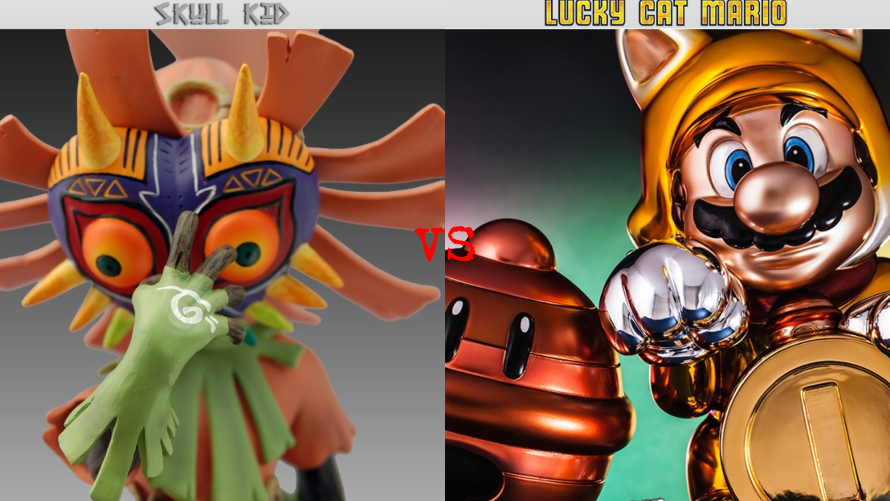 Skull Kid vs. Lucky Cat Mario