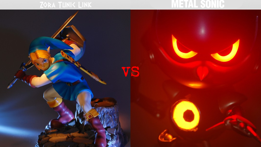 Zora Tunic Link vs. Metal Sonic