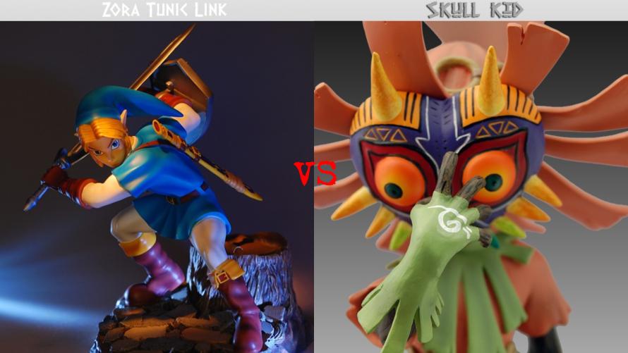 Zora Tunic Link vs. Skull Kid