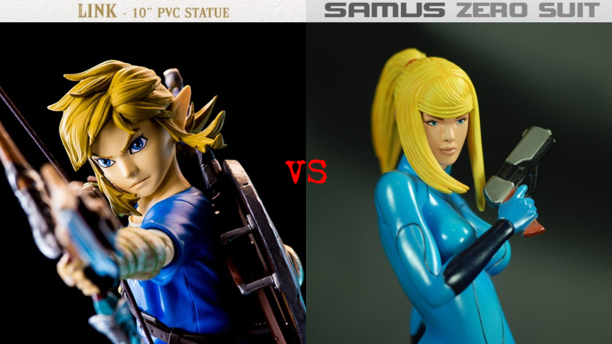 Breath of the Wild Link PVC vs. Zero Suit Samus