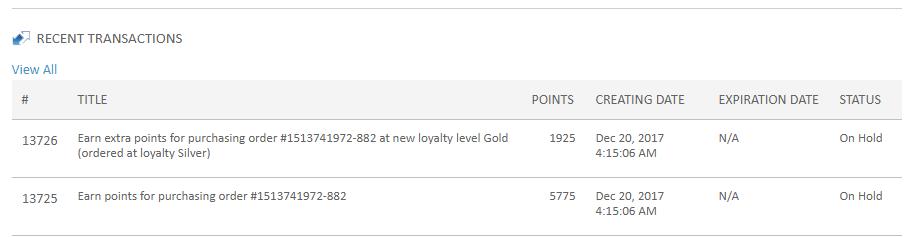 Loyalty Rewards System Upgrade