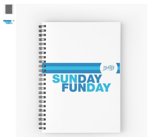 F4F Spiral Notebook