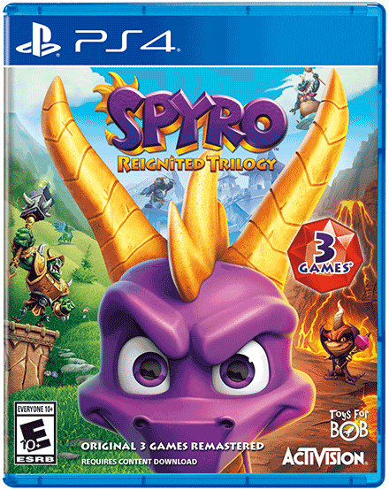 Spyro Reignited Trilogy (PlayStation 4 Cover)