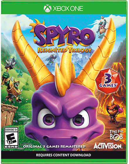 Spyro Reignited Trilogy (Xbox One Cover)