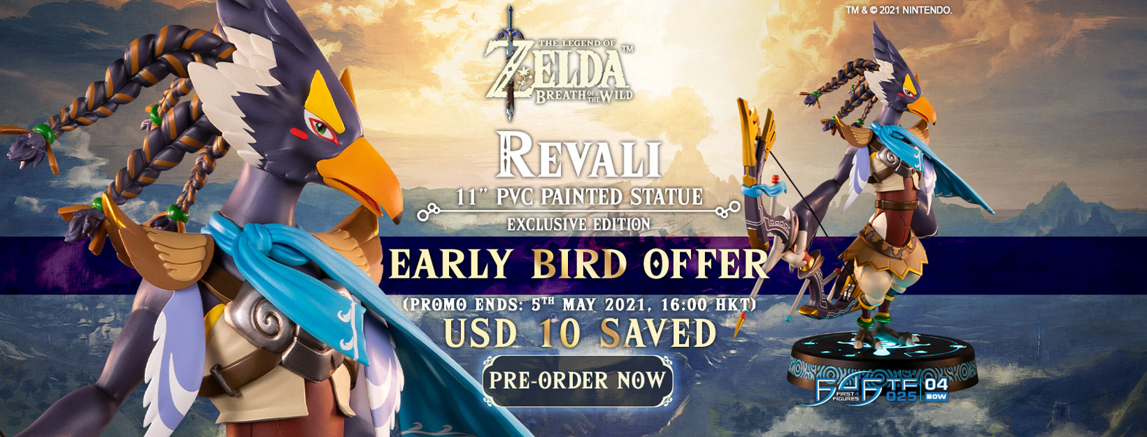 The Legend of Zelda™: Breath of the Wild – Revali PVC statue Early Bird Offer