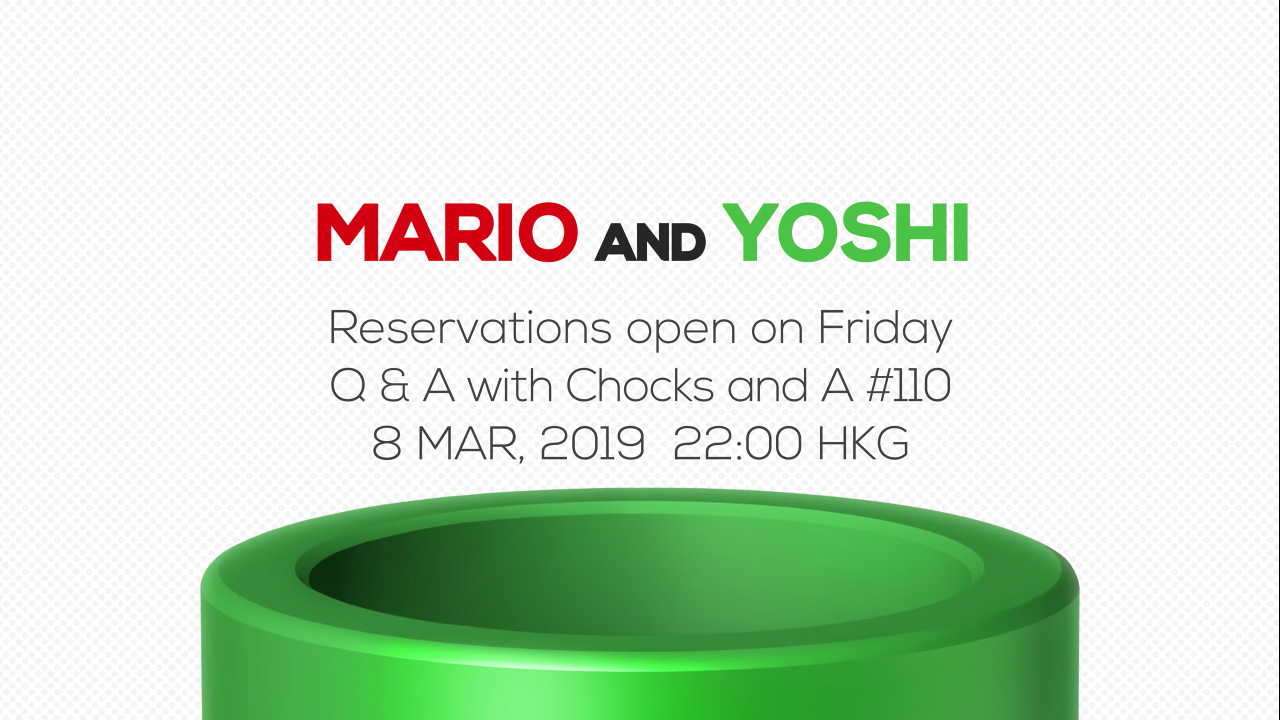 Mario and Yoshi pre-order schedule