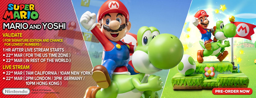 Mario and Yoshi Validation Schedule