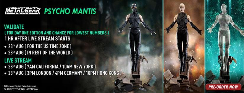 Psycho Mantis Validation Schedule