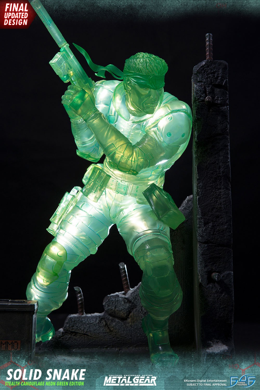 Solid Snake Stealth Camouflage Neon Green Edition