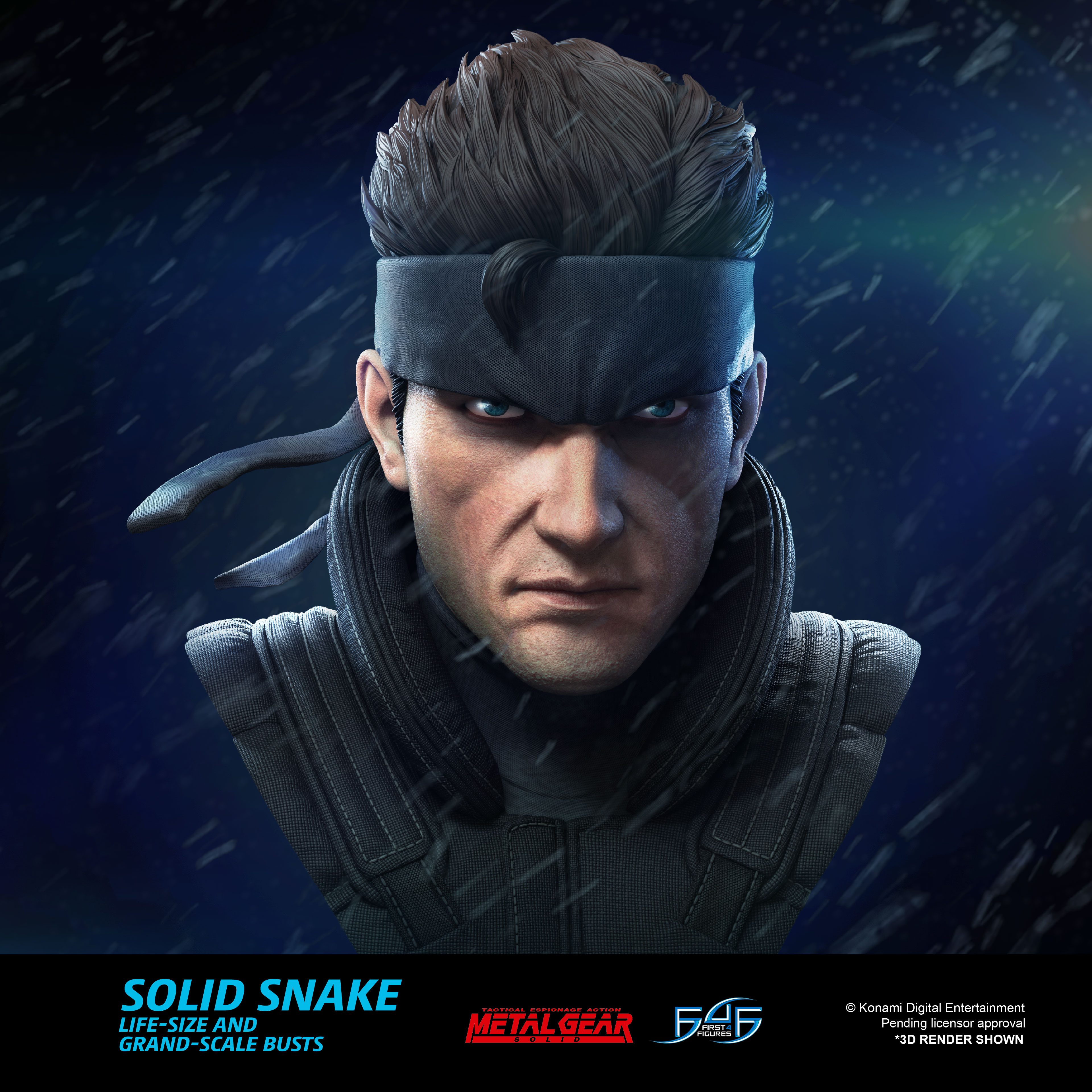 A First Look at First 4 Figures' Metal Gear Solid – Solid Snake Bust Statue
