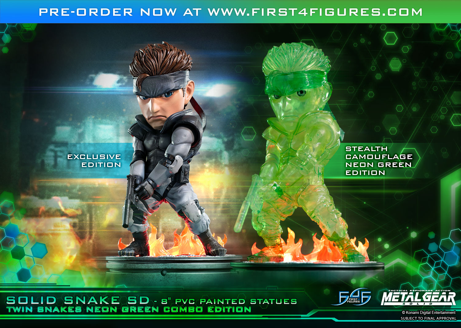 Solid Snake SD (Twin Snakes Neon Green Combo Edition)