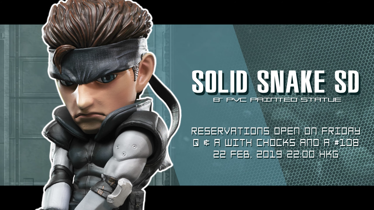 Solid Snake SD pre-order schedule