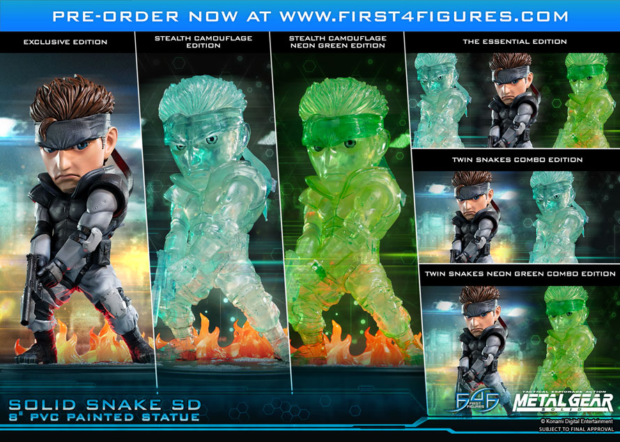 Solid Snake SD 8″ PVC pre-orders NOW OPEN!