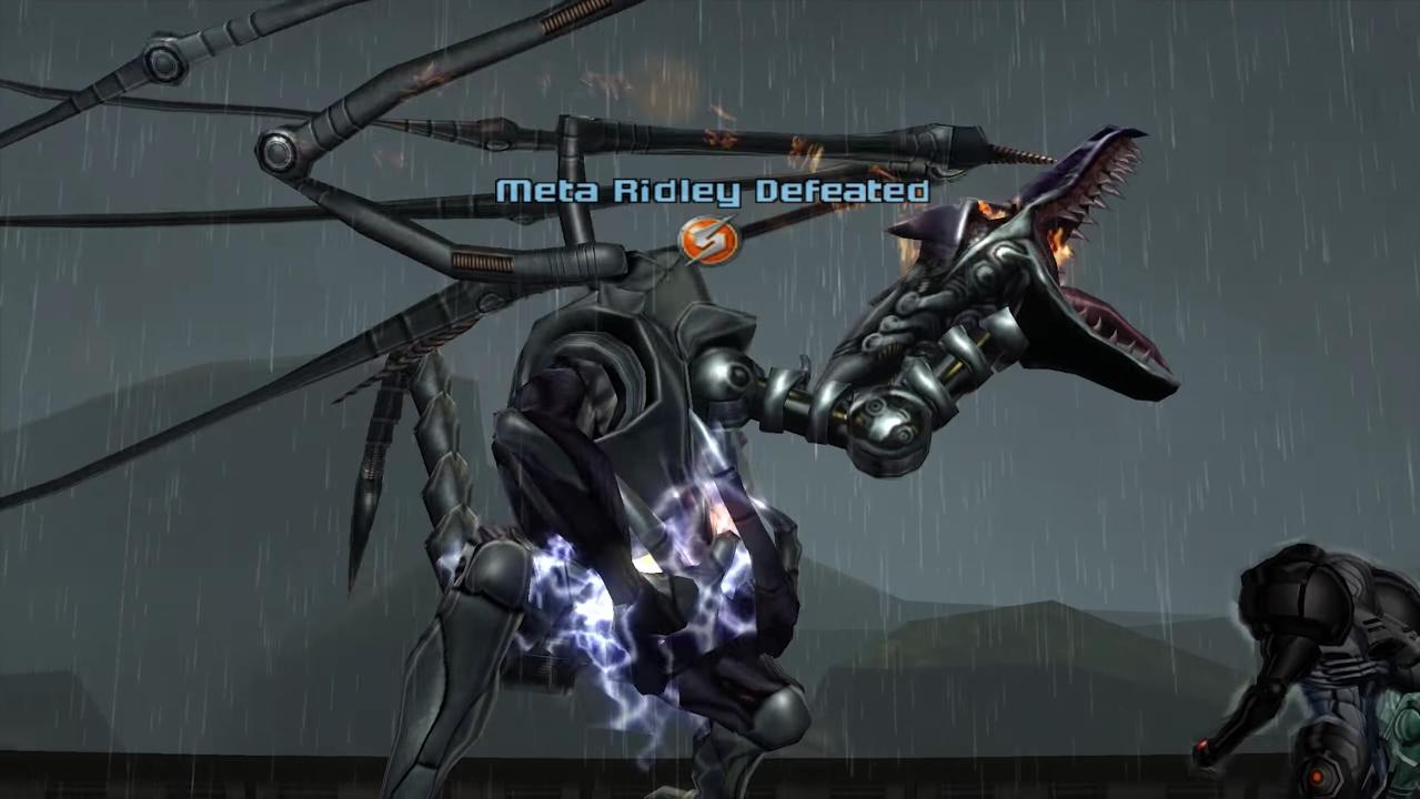 Samus vs. Meta Ridley (Metroid Prime, 2002)