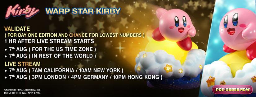 Warp Star Kirby Validation Schedule
