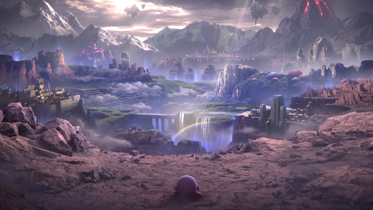 Warp Star Kirby in World of Light