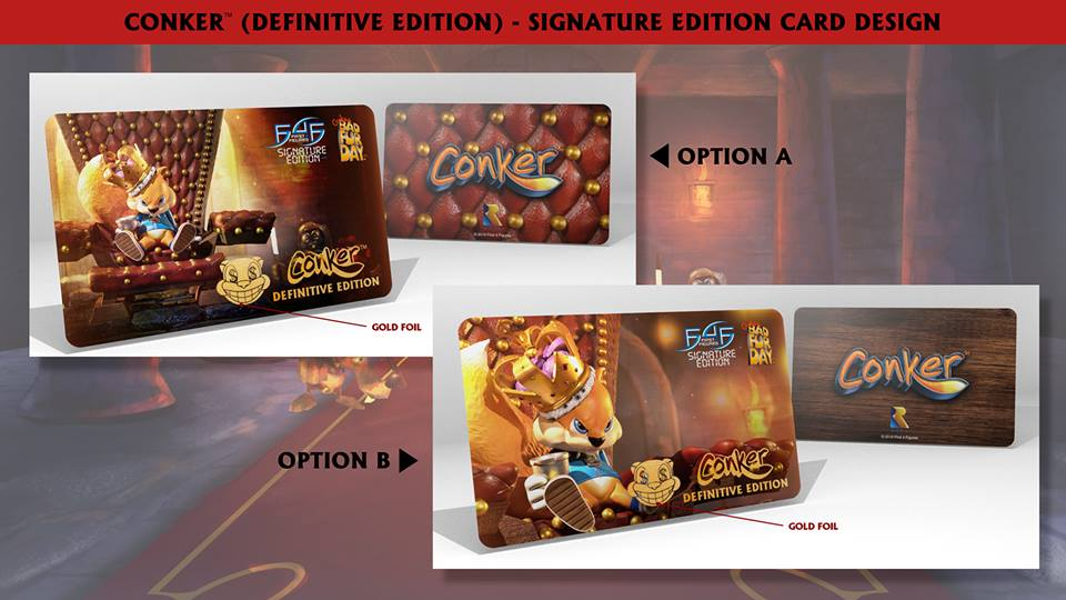 Conker (Definitive Edition) Signature Card designs
