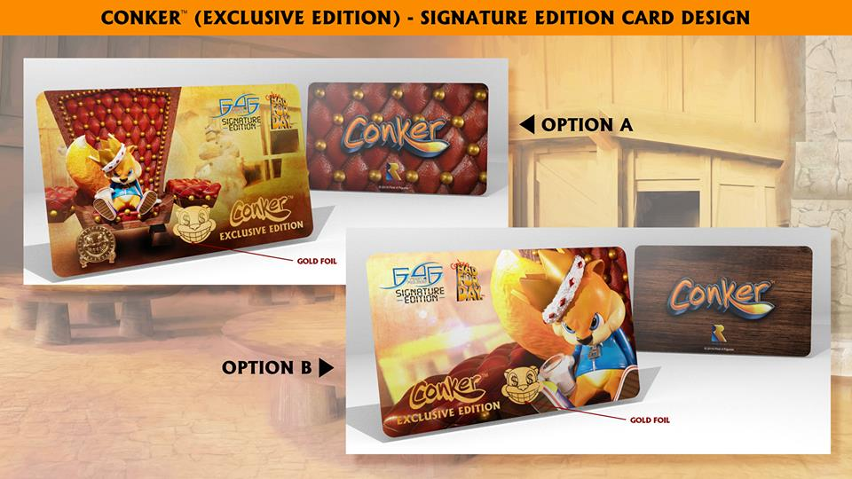 Conker (Exclusive Edition) Signature Card designs