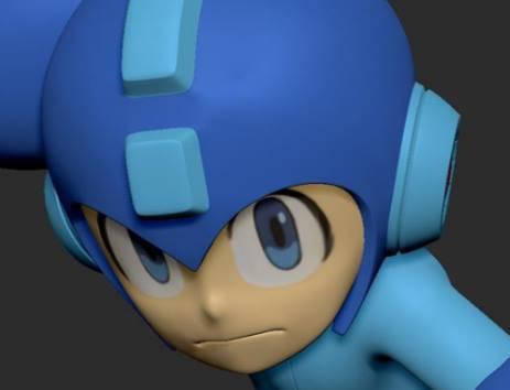 Mega Man PVC render