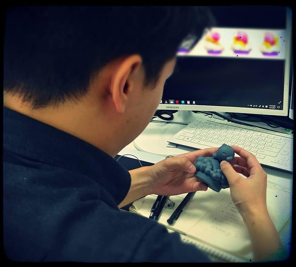 Warpstar Kirby Miniature 3-D Print Sample
