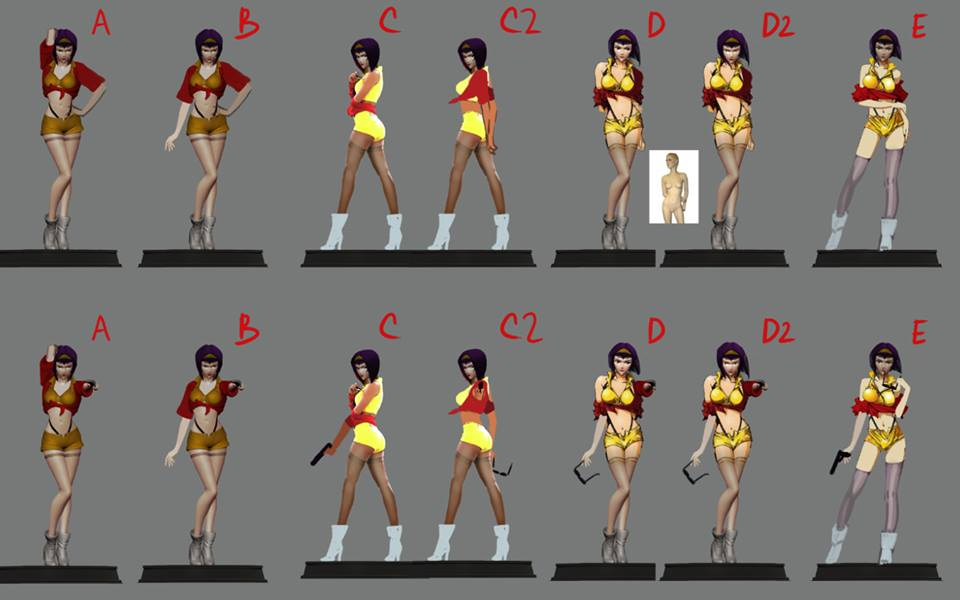 Faye Valentine Pose Suggestions