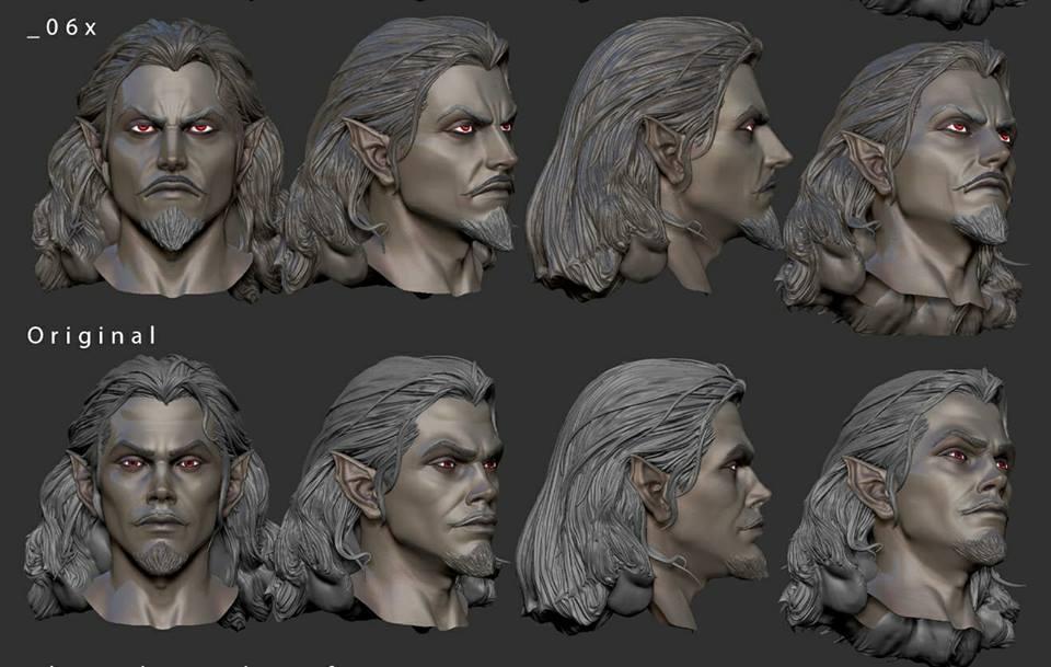 Dracula Revised Head Sculpt
