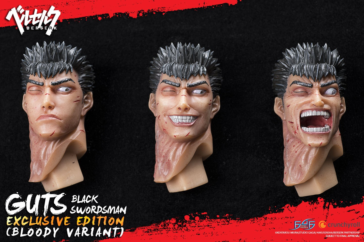 Guts: The Black Swordsman (Exclusive) Head Sculpts
