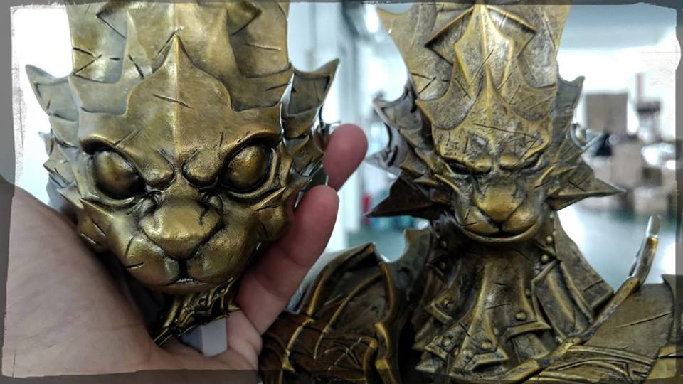 Dragon Slayer Ornstein SD head