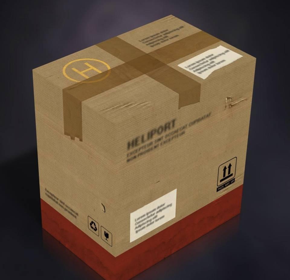 Solid Snake inner shipper box sample