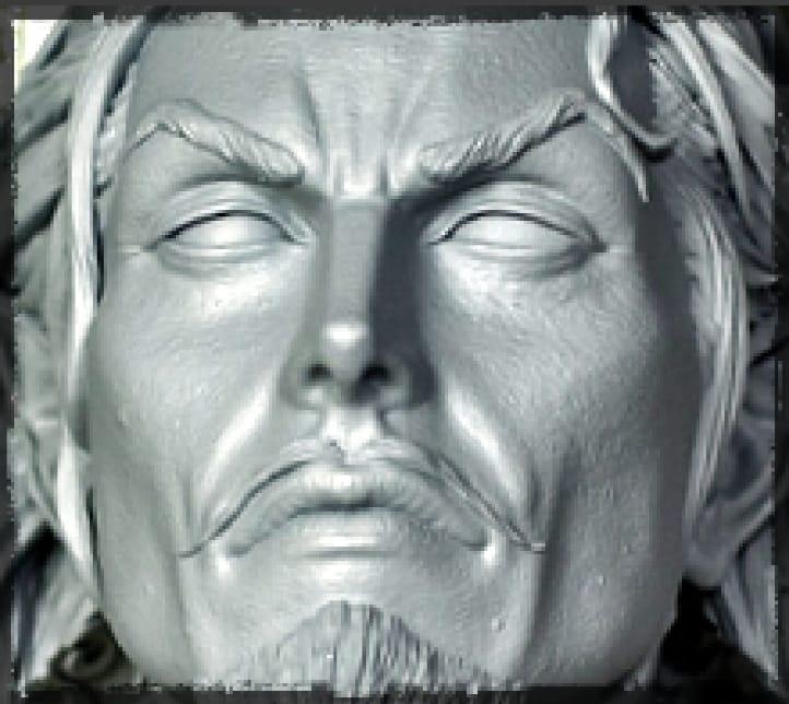 Dracula head resculpt
