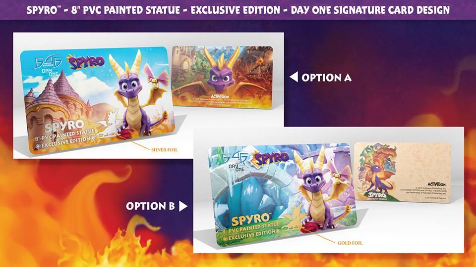 Spyro™ 8″ PVC Day One Signature Card options