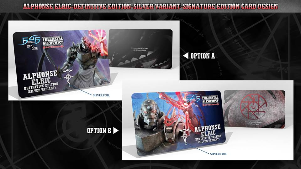 Alphonse Elric Definitive Edition (Silver Variant) Signature Card designs