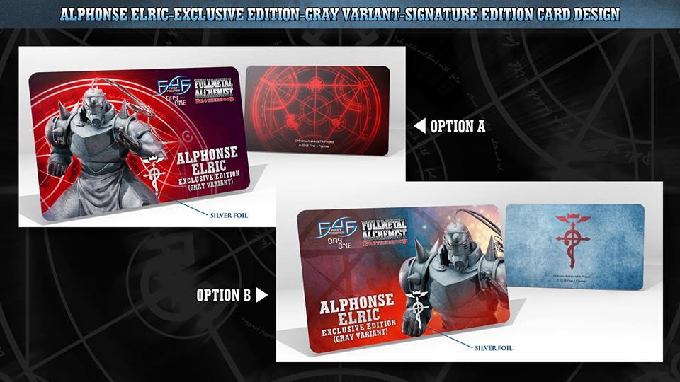 Alphonse Elric Exclusive Edition (Gray Variant) Signature Card designs