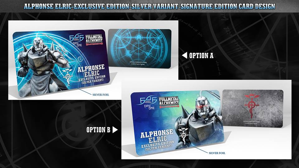Alphonse Elric Exclusive Edition (Silver Variant) Signature Card designs