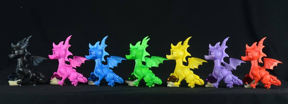 Spyro PVC color variants