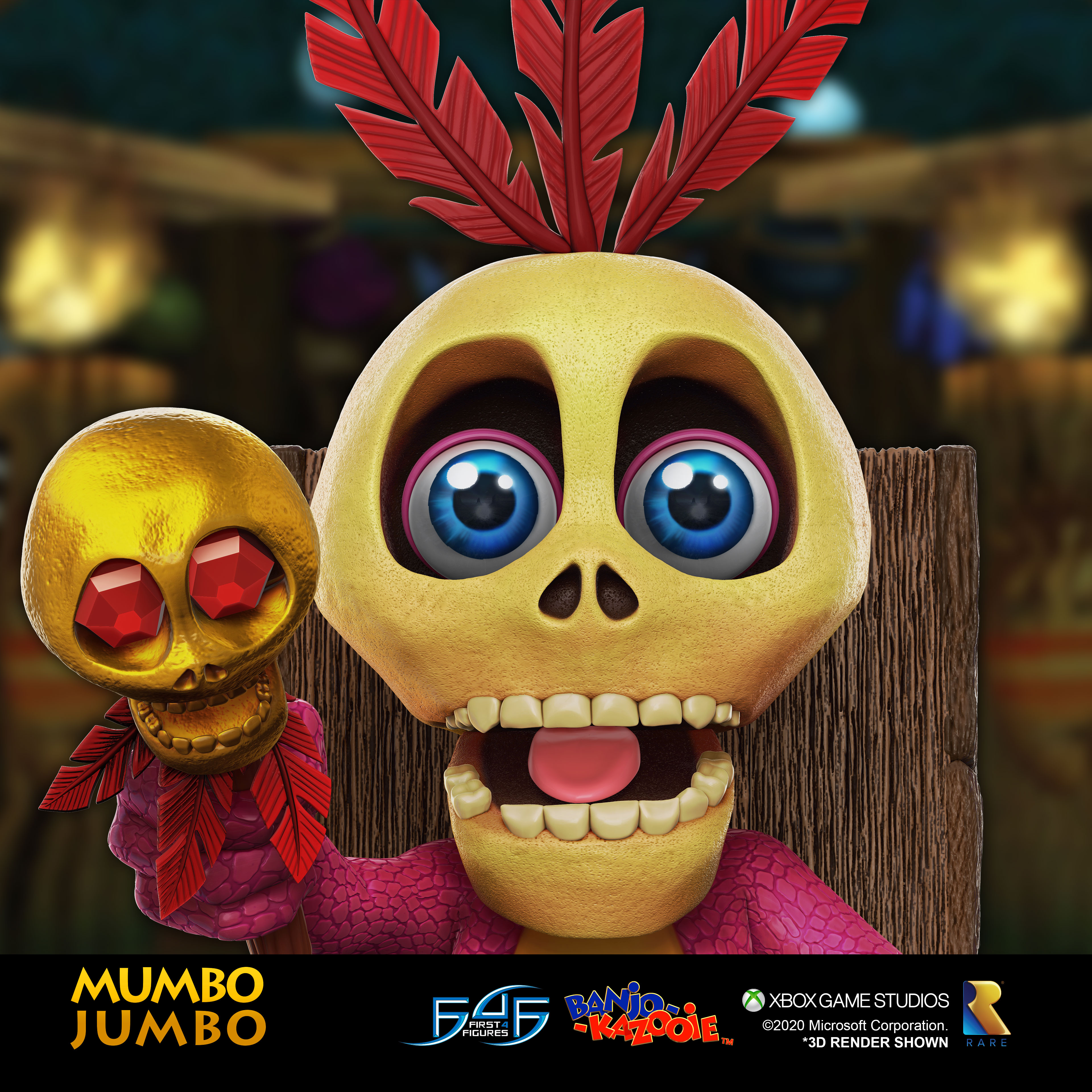 A first look at First 4 Figures' Banjo-Kazooie™ – Mumbo Jumbo statue