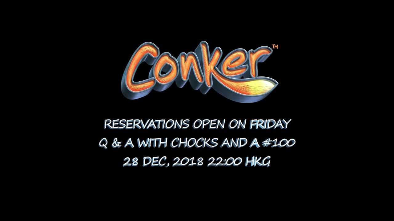 Conker pre-order schedule