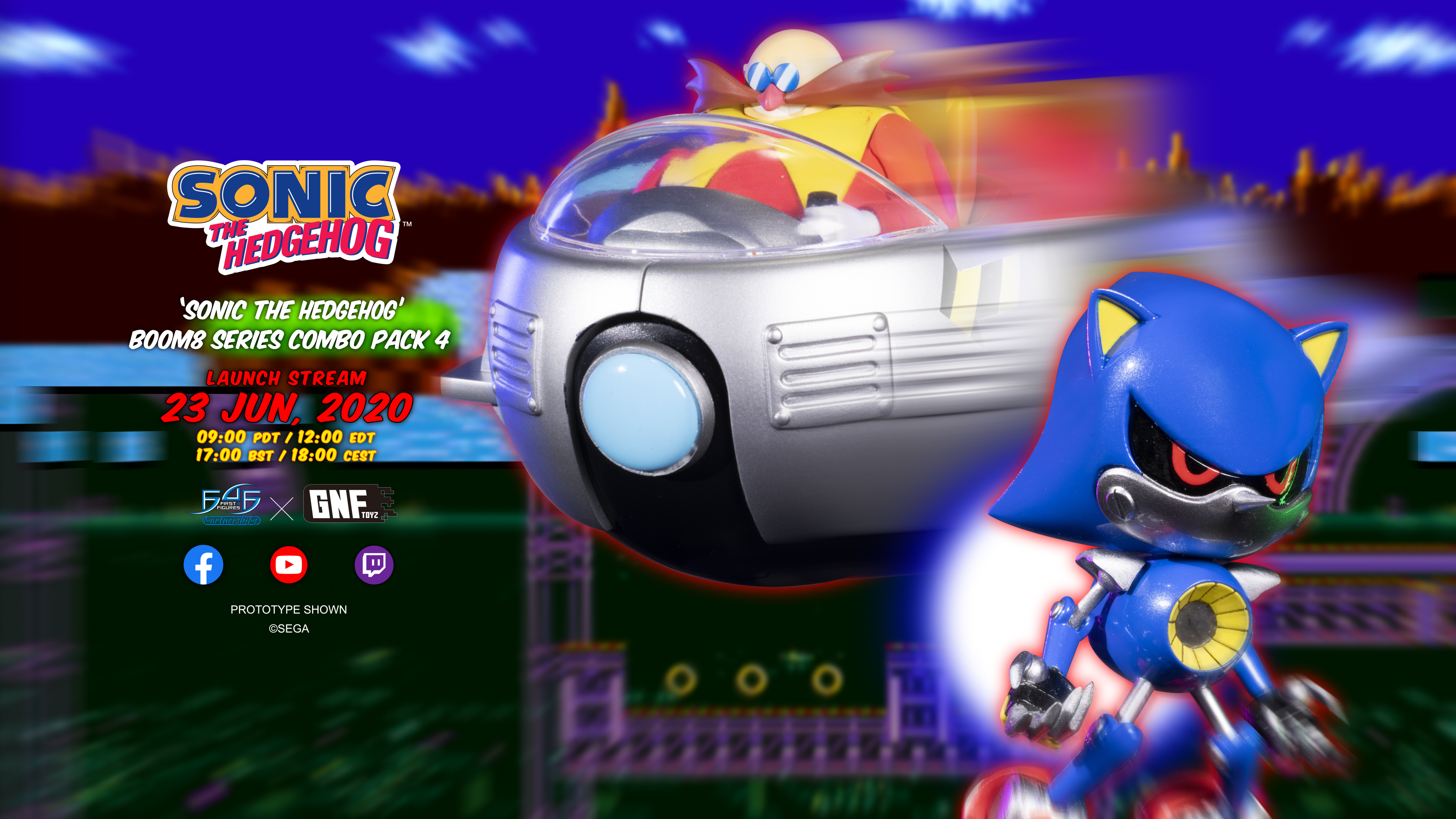 Sonic The Hedgehog Boom8 Series – Combo Pack 4 Coming Soon!
