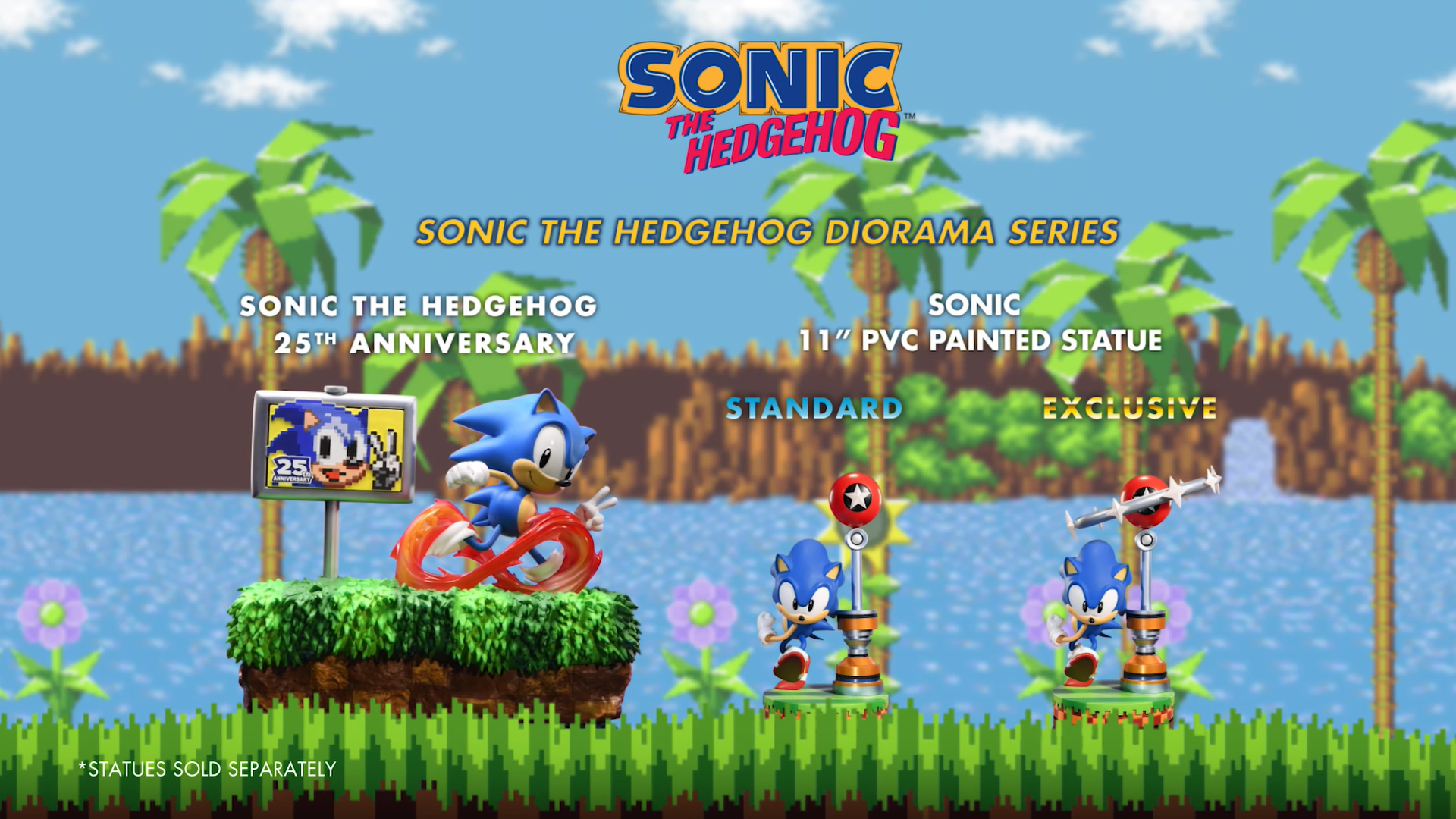 First 4 Figures Sonic The Hedgehog Diorama and PVC lineups