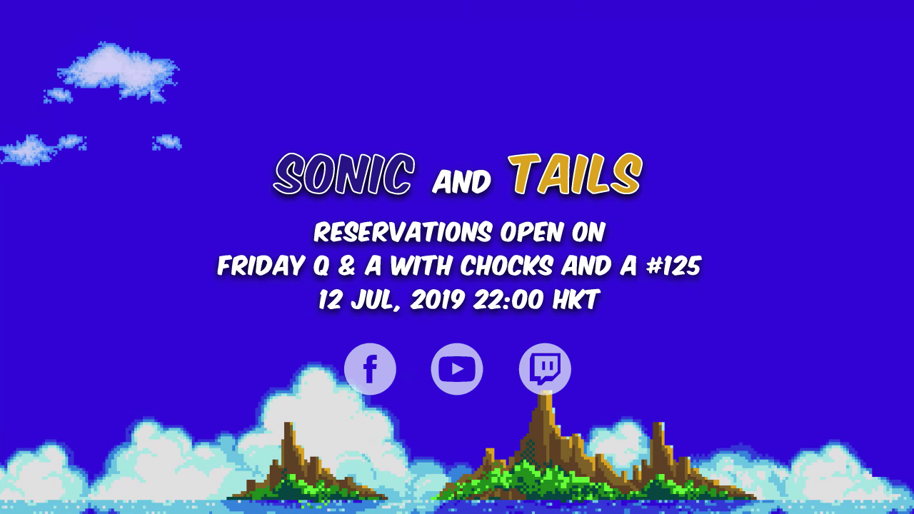 Sonic and Tails pre-order schedule