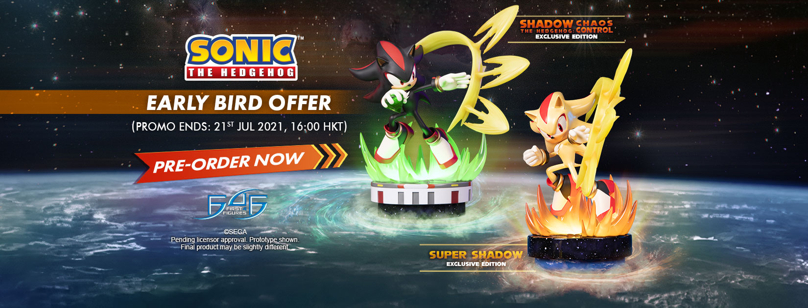 Sonic The Hedgehog – Super Shadow statue Early Bird Offer