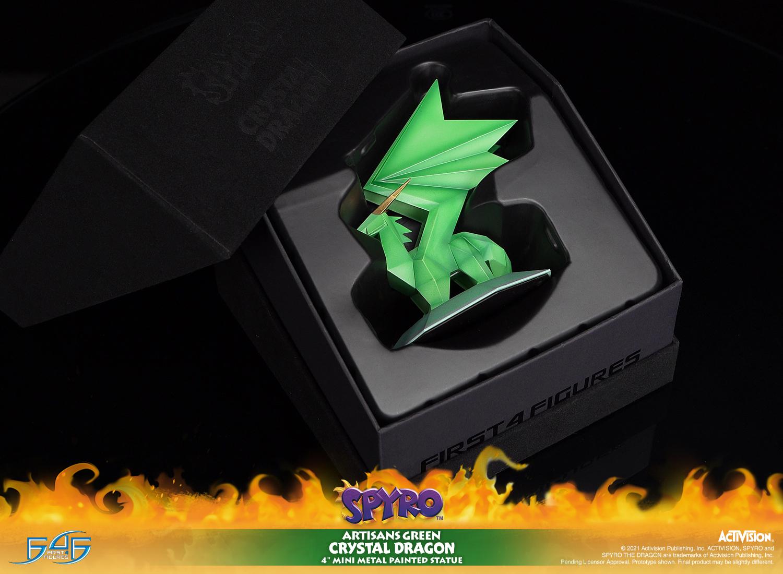 Artisans Green Crystal Dragon